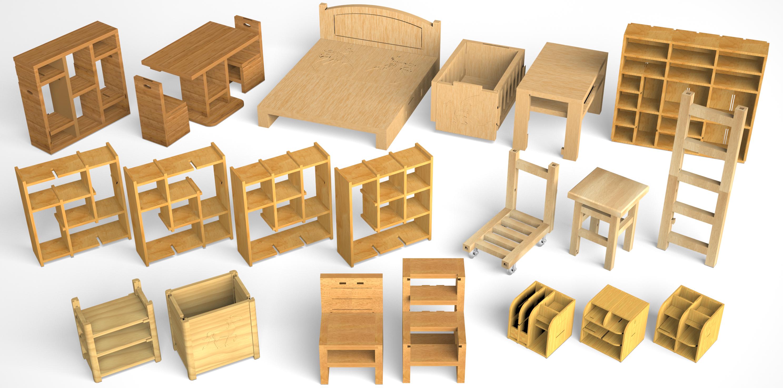 Reconfigurable Interlocking Furniture